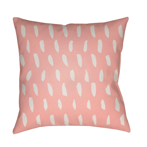 """18"""" Rough Pink and White Digitally Printed Square Throw Pillow Cover - IMAGE 1"""