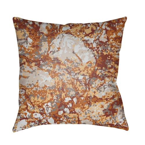 """18"""" Brown and Red Square Throw Pillow Cover with Knife Edge - IMAGE 1"""