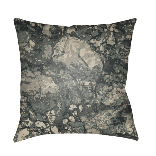 "18"" Green and Gray Square Throw Pillow Cover with Knife Edge - IMAGE 1"