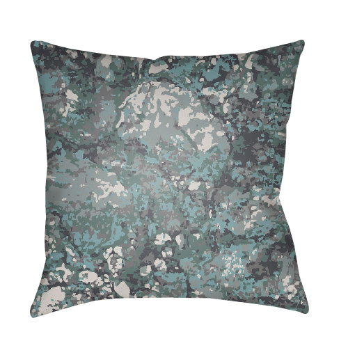 """18"""" Pale Blue and Gray Square Throw Pillow Cover with Knife Edge - IMAGE 1"""