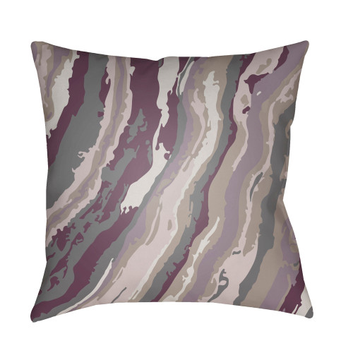 """18"""" Bright Purple and Gray Square Throw Pillow Cover with Knife Edge - IMAGE 1"""