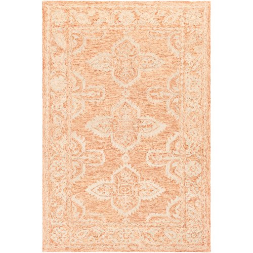 6' x 9' Brown and Beige Persian Floral Patterned Rectangular Hand Tufted Area Rug - IMAGE 1