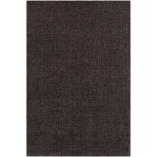 5' x 7.5' Solid Charcoal Black Hand Tufted Rectangular Area Throw Rug - IMAGE 1