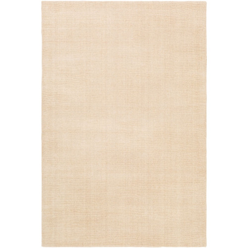 5' x 7.5' Solid Tortilla Brown Hand Tufted Rectangular Area Throw Rug - IMAGE 1