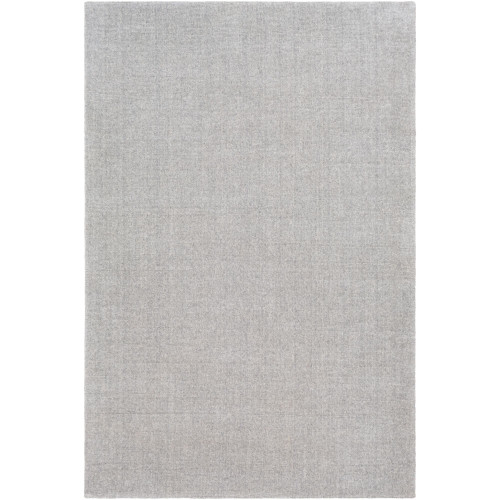 5' x 7.5' Solid Fossil Gray Hand Tufted Rectangular Area Throw Rug - IMAGE 1