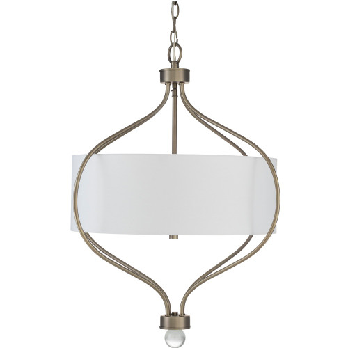 """28"""" Antiqued Steel Fixture Hanging Ceiling Light with 3 Light Pendant - IMAGE 1"""