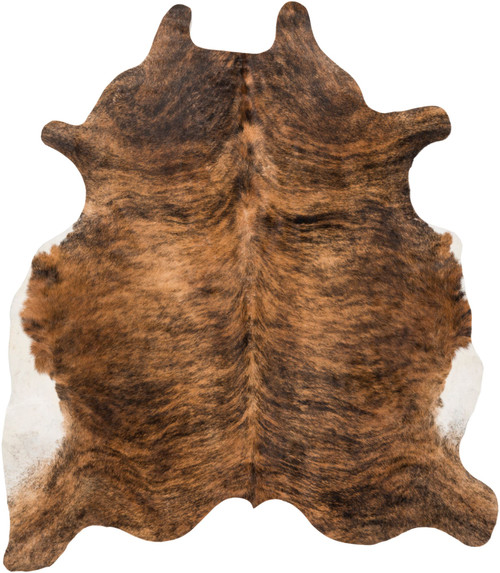 3' x 5' Black and Cream Cowhide Shaped Hand Crafted Area Throw Rug - IMAGE 1