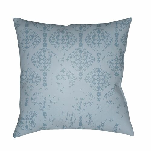"""20"""" Blue Damask Patterned Square Throw Pillow Cover - IMAGE 1"""