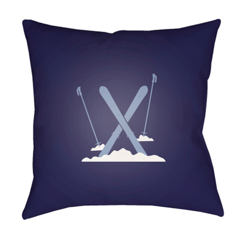 """18"""" Violet and White Printed Square Throw Pillow Cover with Knife Edge - IMAGE 1"""