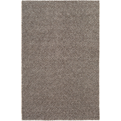 2' x 3' Braided Texture Brown and Cream Rectangular Area Throw Rug - IMAGE 1