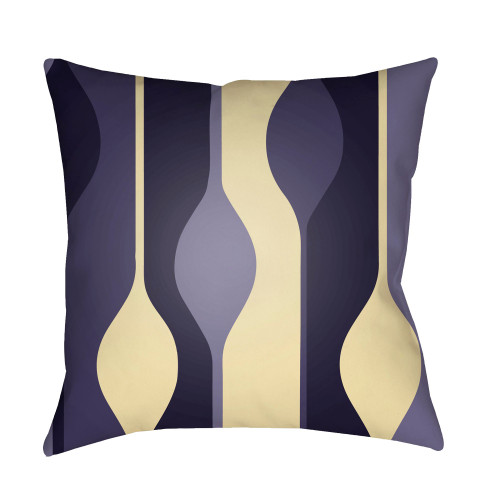 """20"""" Navy Blue and Beige Digitally Printed Square Throw Pillow Cover - IMAGE 1"""