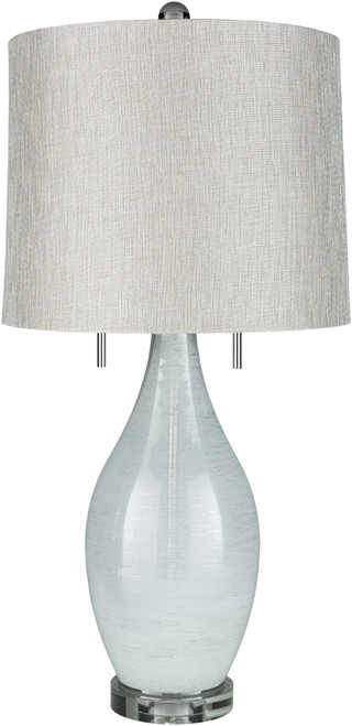 """30.75"""" Contemporary Style Gray and Violet Glass Table Lamp with Drum Shade - IMAGE 1"""