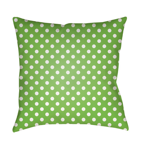 """20"""" Green and White Polka Dots Throw Pillow Cover - IMAGE 1"""