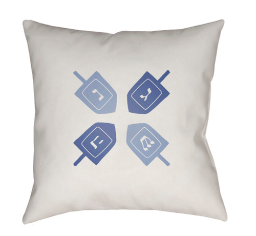 """20"""" Navy Blue and White Square Throw Pillow Cover with Knife Edge - IMAGE 1"""