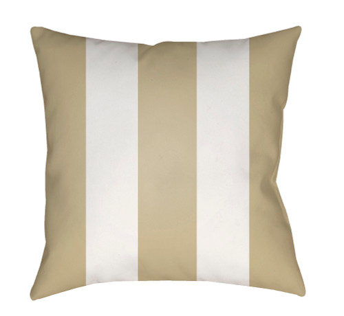 """20"""" Sand Beige and White Striped Square Throw Pillow Cover - IMAGE 1"""