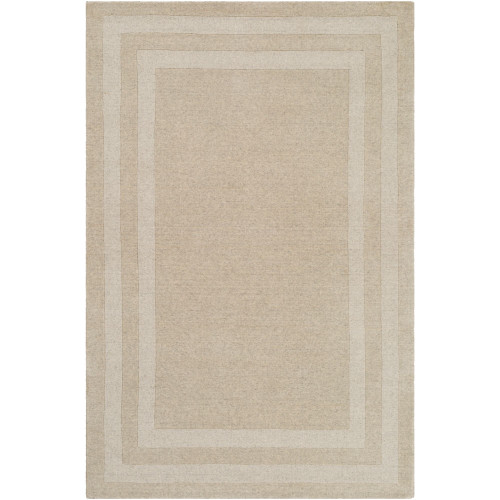 4' x 6' Ivory and Brown Color with Border Rectangular Hand Tufted Area Rug - IMAGE 1