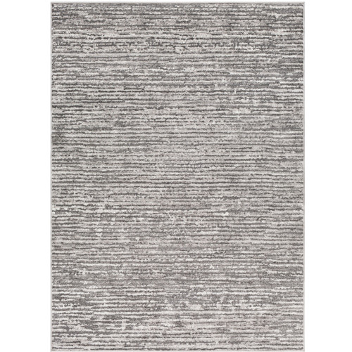 "5'3"" x 7'3"" Distressed Finish Gray and White Rectangular Area Rug - IMAGE 1"