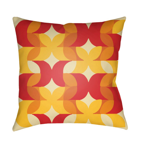 """20"""" Bright Red and White Floral Throw Pillow Cover with Knife Edge - IMAGE 1"""