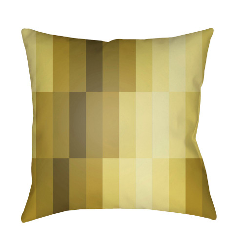 """20"""" Bright Yellow Geometric Throw Pillow Cover with Knife Edge - IMAGE 1"""