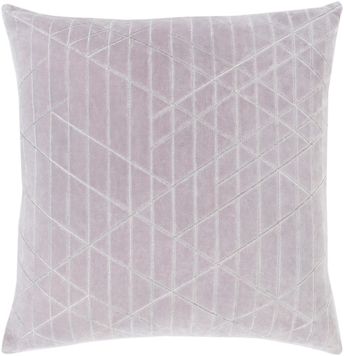 "22"" Gray and Silver colored Square Throw Pillow - Poly Filled - IMAGE 1"