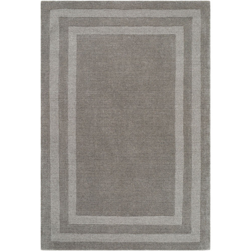 4' x 6' Gray Color Rectangular Hand Tufted Area Rug with Border - IMAGE 1