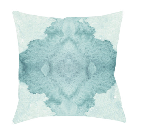 """18"""" Green Digitally Printed Square Throw Pillow Cover - IMAGE 1"""