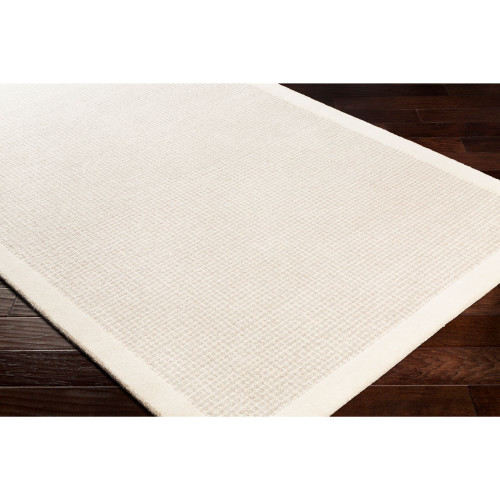 8' x 10' Solid Gray and Beige Rectangular Area Rug - IMAGE 1