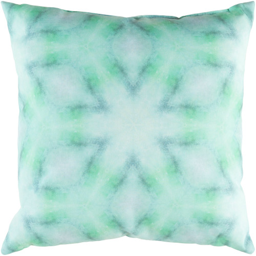 """18"""" Green Digitally Printed Square Throw Pillow Cover with Knife Edge - IMAGE 1"""