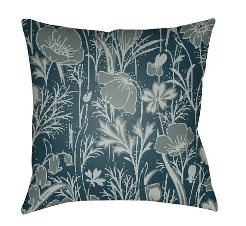 """20"""" Green and Gray Floral Square Throw Pillow Cover - IMAGE 1"""