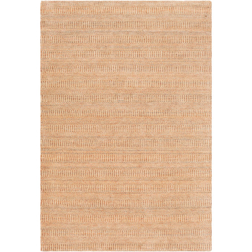 5' x 7.5' Orange Hand Loomed Rectangular Area Throw Rug - IMAGE 1