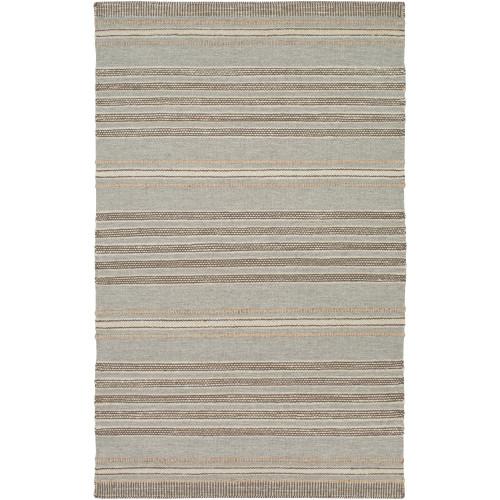2' x 3' Gray and Brown Hand Woven Area Throw Rug - IMAGE 1
