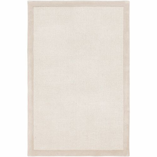 8' x 10' Solid Ivory and Beige Rectangular Area Rug - IMAGE 1