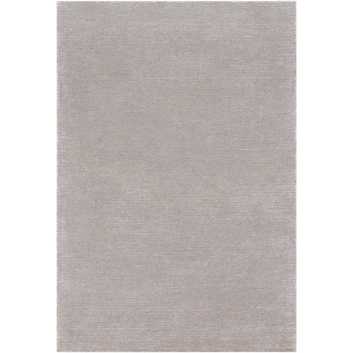 8' x 10' Solid Gray and Ivory Rectangular Area Throw Rug - IMAGE 1