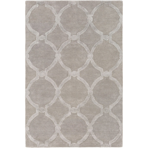 3' x 5' Ogee Patterned Ivory Rectangular Area Throw Rug - IMAGE 1