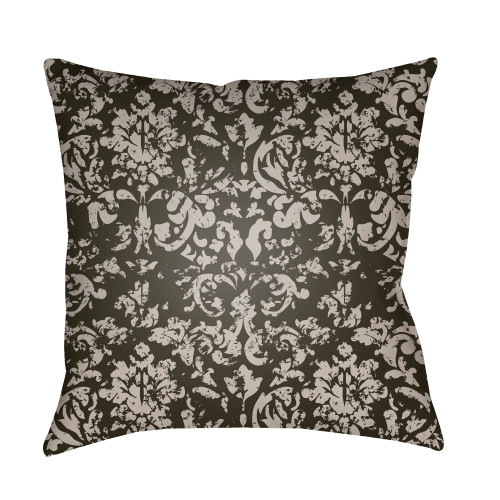 """18"""" Gray and Black Digitally Printed Square Throw Pillow Cover - IMAGE 1"""