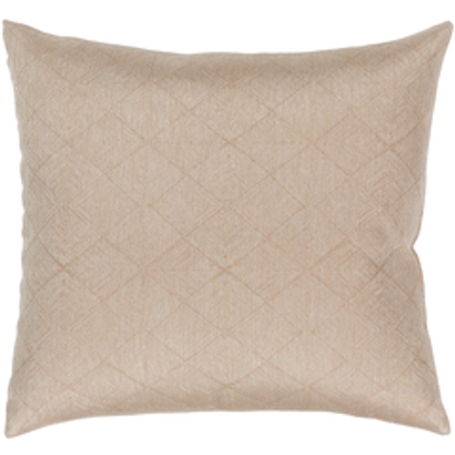 "18"" Tan and Beige Geometric Throw Pillow - Down Filled - IMAGE 1"