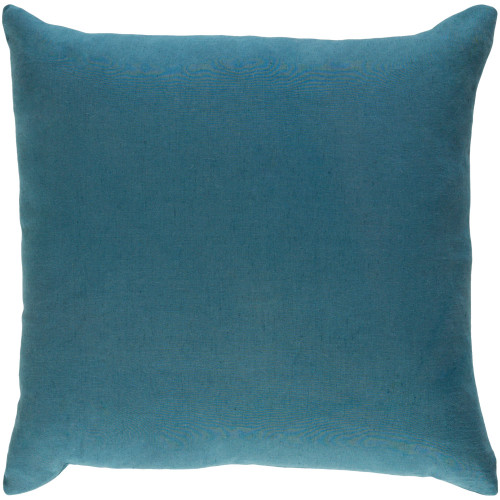 """18"""" Teal Blue Solid Square Throw Pillow Cover with Knife Edge - IMAGE 1"""