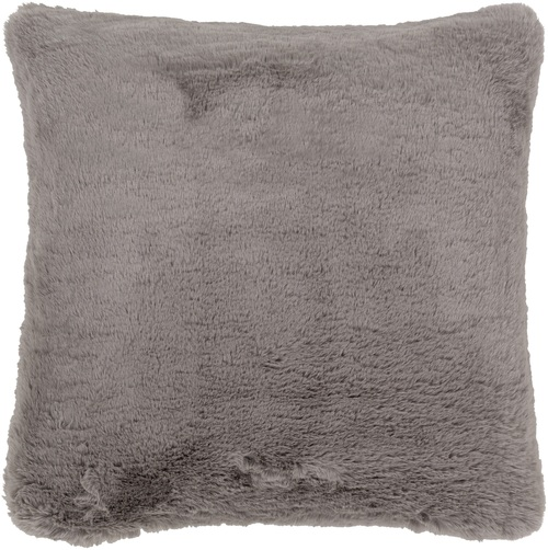 "20"" Gray Solid Square Throw Pillow Cover - IMAGE 1"