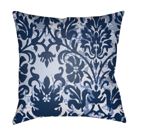 "18"" Blue and Black Digitally Printed Square Throw Pillow Cover - IMAGE 1"