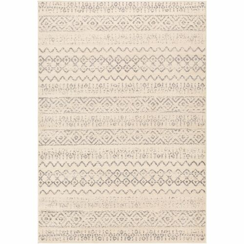 7.8' x 10' Tribal Pattern Ivory and Beige Rectangular Area Rug - IMAGE 1