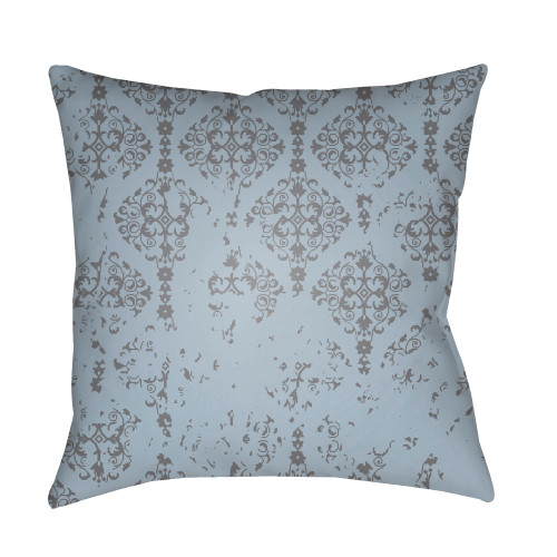 """18"""" Sky Blue and Gray Square Pillow Cover with Knife Edge - IMAGE 1"""