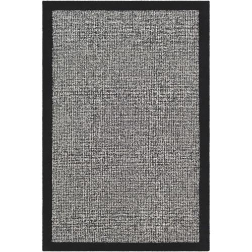 5' x 7.5' Solid Charcoal Black Rectangular Area Throw Rug - IMAGE 1