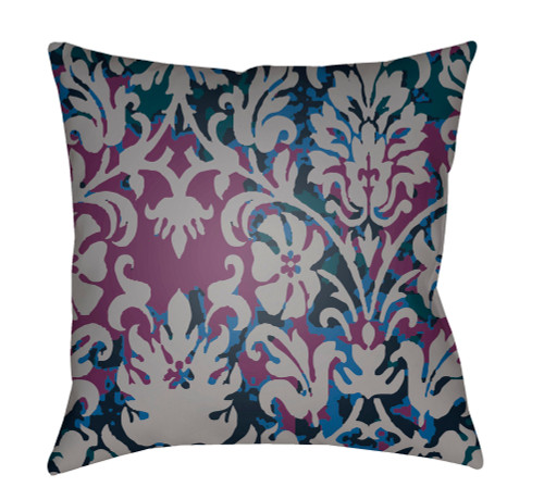 """18"""" Green and Purple Digitally Printed Square Throw Pillow Cover - IMAGE 1"""