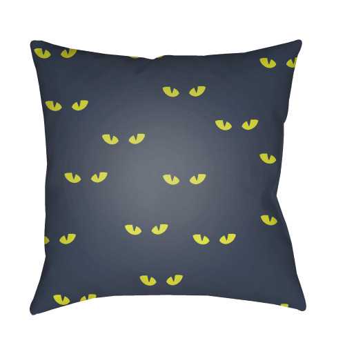 """18"""" Gray and Yellow Eyes Printed Square Throw Pillow Cover - IMAGE 1"""