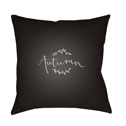 """18"""" Black and White """"Autumn"""" Printed Square Throw Pillow Cover - IMAGE 1"""