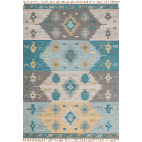 8' x 10' Contemporary Style Beige and Gray Rectangular Area Throw Rug - IMAGE 1