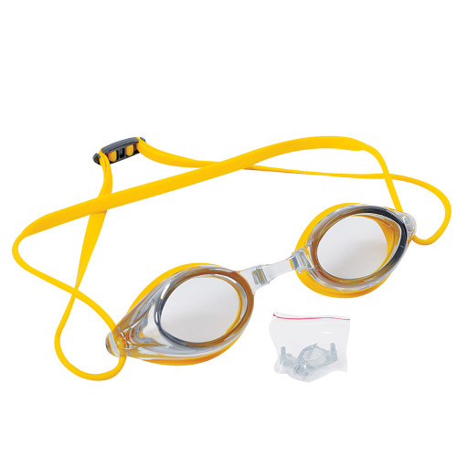 """7"""" Yellow Competition Swimming Pool Goggles - IMAGE 1"""
