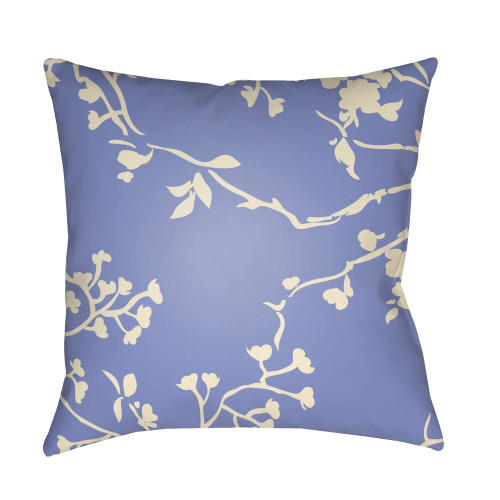 """18"""" Lavender and Beige Floral Square Throw Pillow Cover - IMAGE 1"""