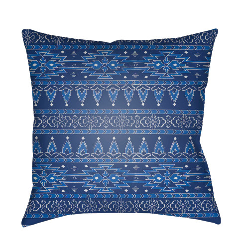 """18"""" Blue and White Square Throw Pillow Cover - IMAGE 1"""
