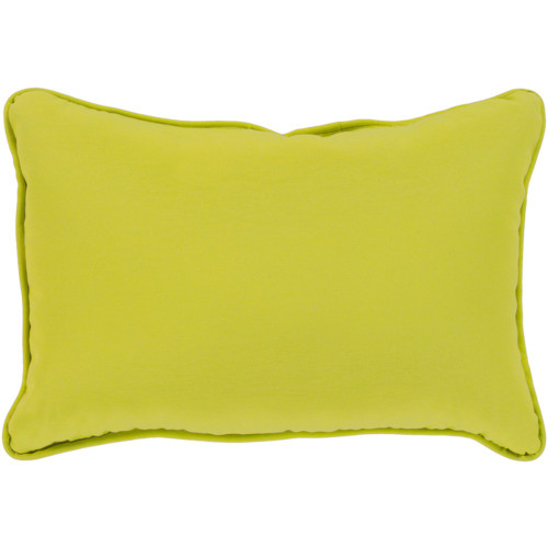 "19"" Lime Green Rectangular Throw Pillow Cover with Piping Trim - IMAGE 1"